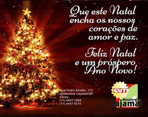 Feliz Natal e um novo ano cheio de amor, paz, amizade, humildade e sabedoria.
