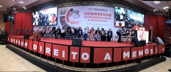 Congresso da CUT reforça luta contra o golpe
