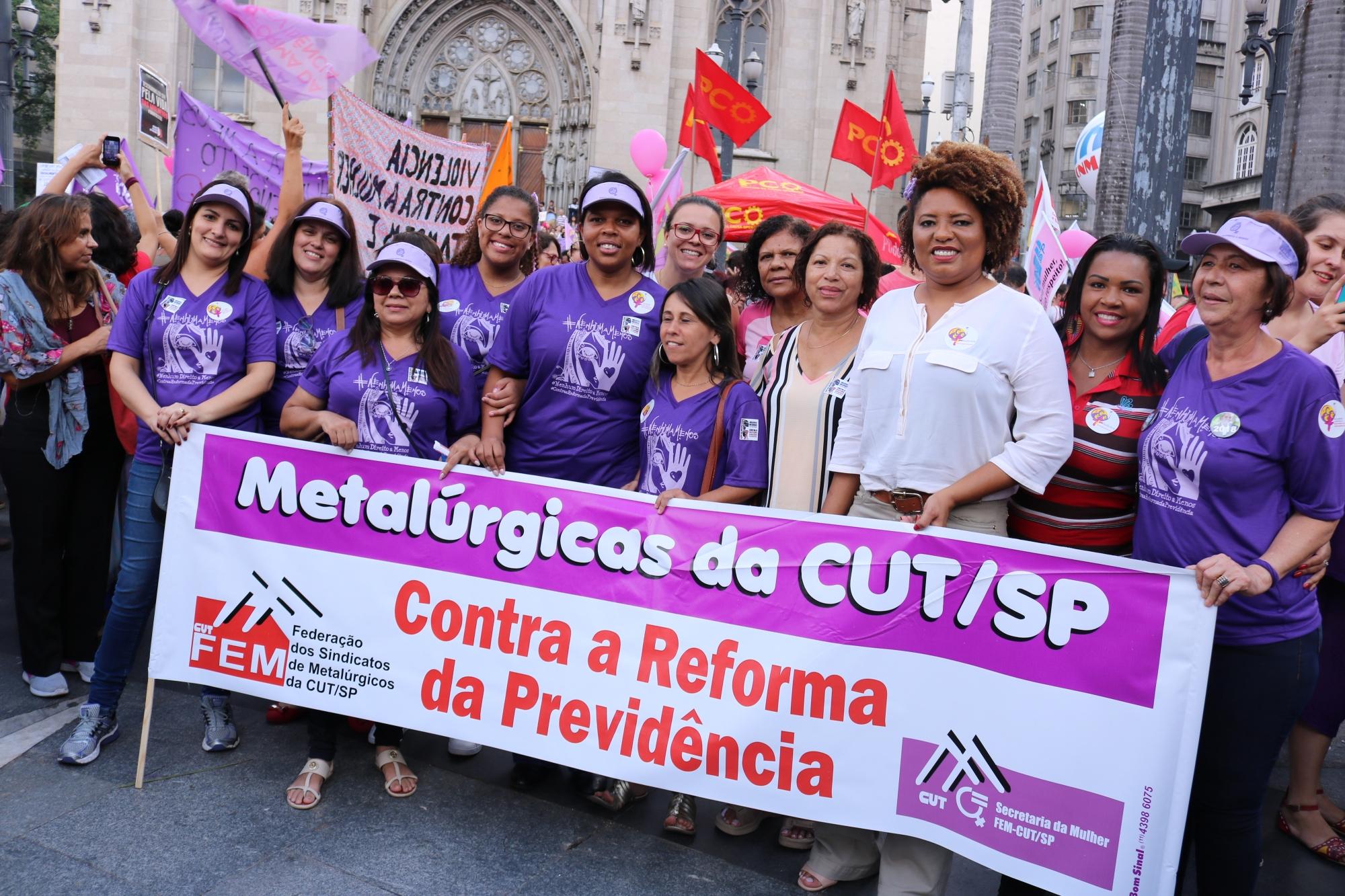 8 de Março: Pela vida das mulheres, democracia e soberania! Temer sai e aposentadoria fica!