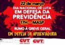 Dia 22 tem ato na Av. Paulista contra reforma da Previdência