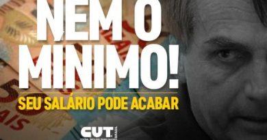 Bolsonaro acaba com a Política de Valorização do Salário Mínimo