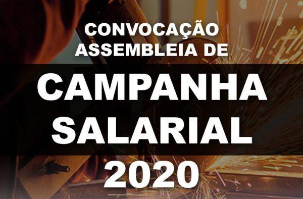 CONVOCAÇÃO DE ASSEMBLEIA DE CAMPANHA SALARIAL 2020