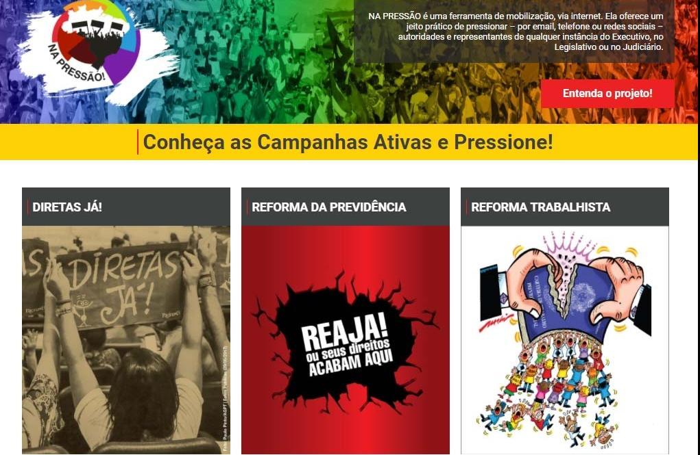 CUT lança site para pressionar parlamentares a votarem contra reformas