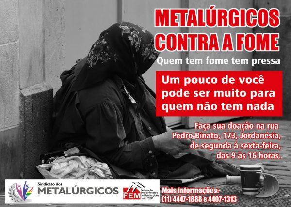 Metalúrgicos contra a fome